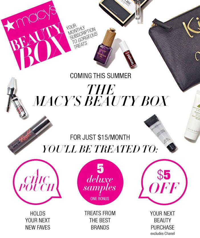Macy's Beauty Box Coming this Summer!