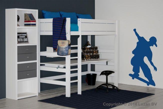 25 beste idee n over kleine tiener slaapkamers op pinterest kleine meisjes slaapkamers en - Hoogslaper tiener met kantoor en opslag ...