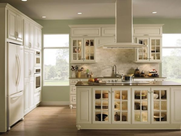 white cabinets w/ white appliances
