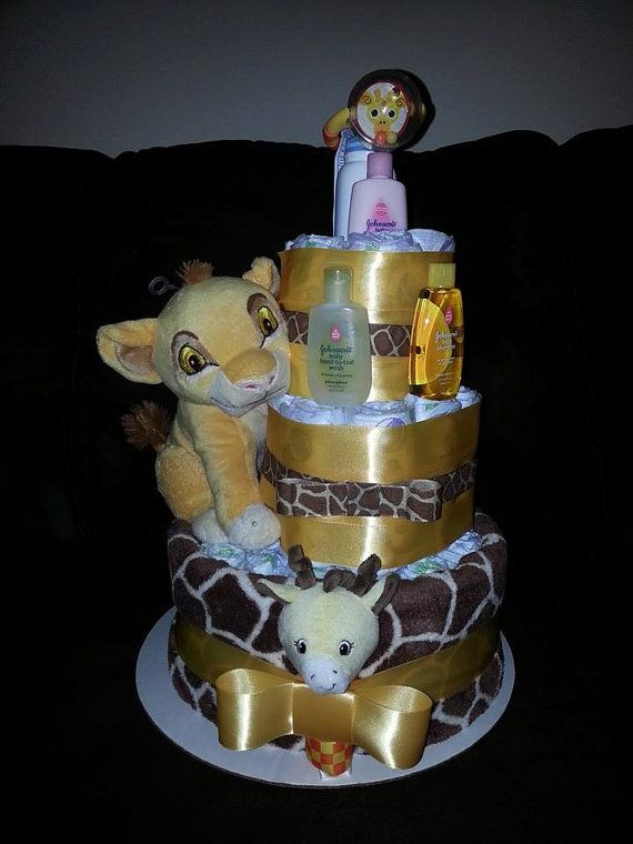 Lion King Diaper Cake By Taneshascreations On Etsy 56 00