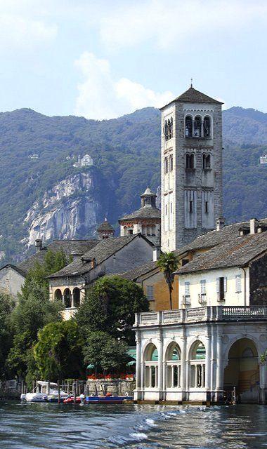Isola di San Giulio e Madonna del Sasso ~ Orta San Giulio, Italy | Flickr - Photo by Zaffiro&Acciaio: Marco Ferrari