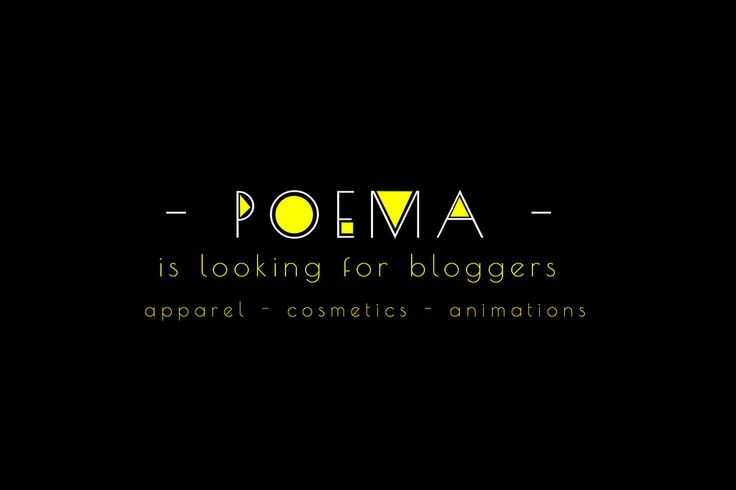 https://flic.kr/p/UjHzt8 | POEMA blogger search | Blogger Applications for P O E M A are now open!  To apply please, fill out the form at this link: docs.google.com/forms/d/1s5JhUovwfzhCuXjRNtwhndsCQmuGkdnn...  I will contact the selected bloggers.