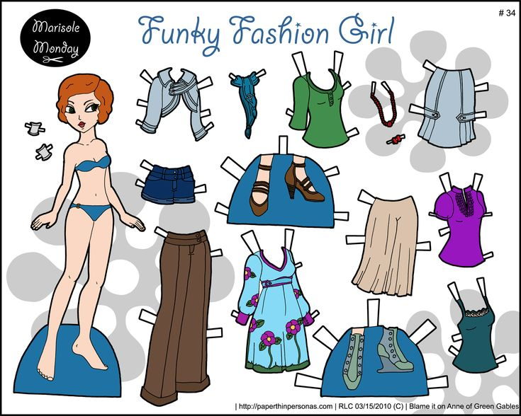 Printable Fashion Paper Dolls | Click Here for a PDF to Print } { Click Here for a PNG to Print ...