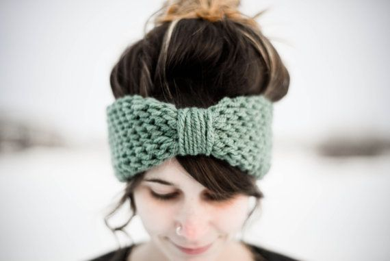 Simple Crocheted Blue Spruce Turban Headband