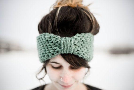 Simple Crocheted Blue Spruce Turban Headband