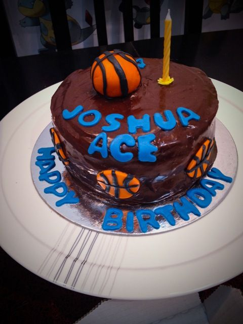 Mini Choco Cake with 3D Basketball