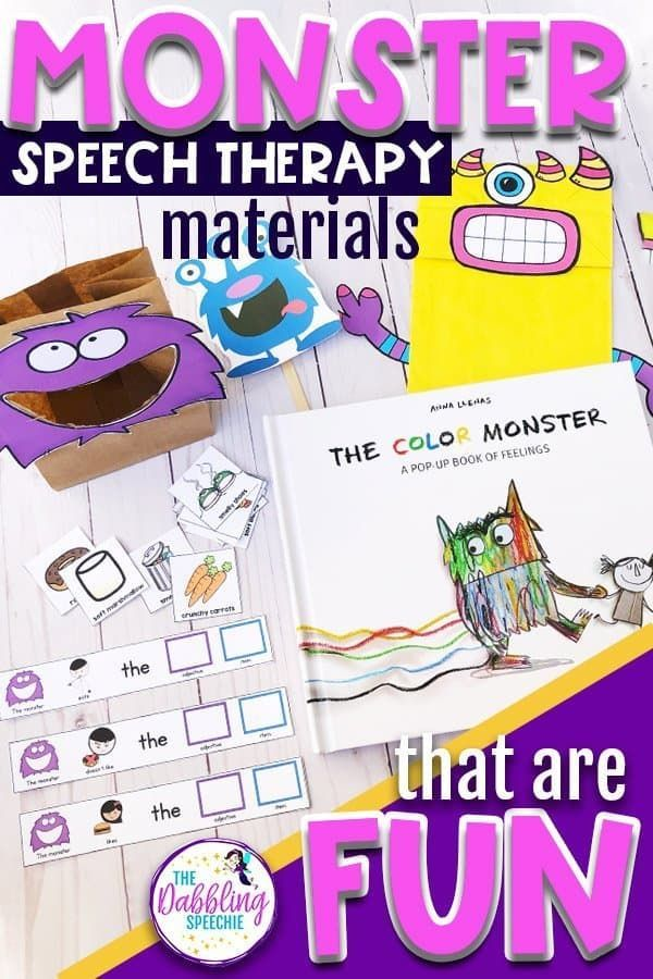 Monster Speech Therapy Materials That Are Fun Thedabblingspeechie Preschool Speech Therapy Speech Therapy Activities Preschool Speech Therapy Materials