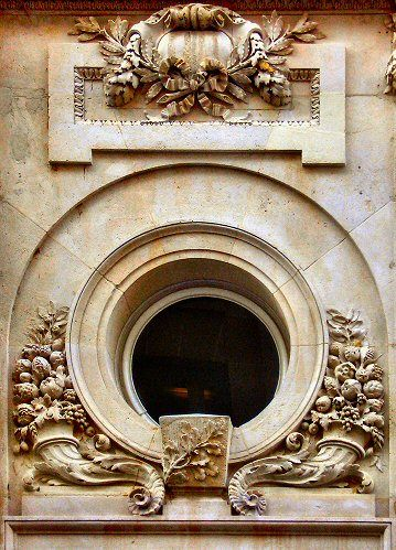 ⌖ Architectural Adornments ⌖  ornate building details - Oeil de boeuf (rue Cambacérès, à Paris)