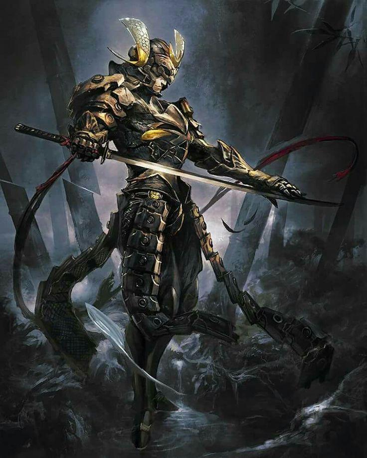 Male Human Warrior Samurai #Pathfinder #DnD #5e #d20