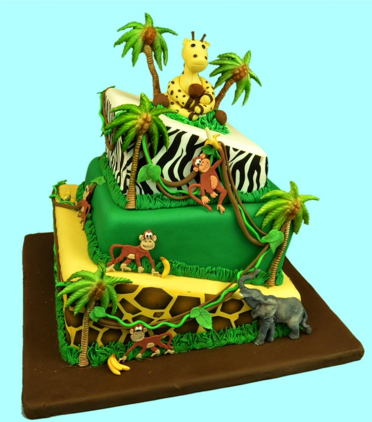 980 best images about Jungle/Zoo/Africa Cakes on Pinterest ...