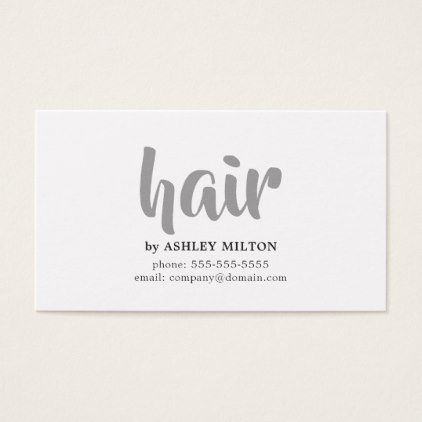 #Minimal Elegant Black Grey White Hair Stylist Business Card - #beautician #gifts