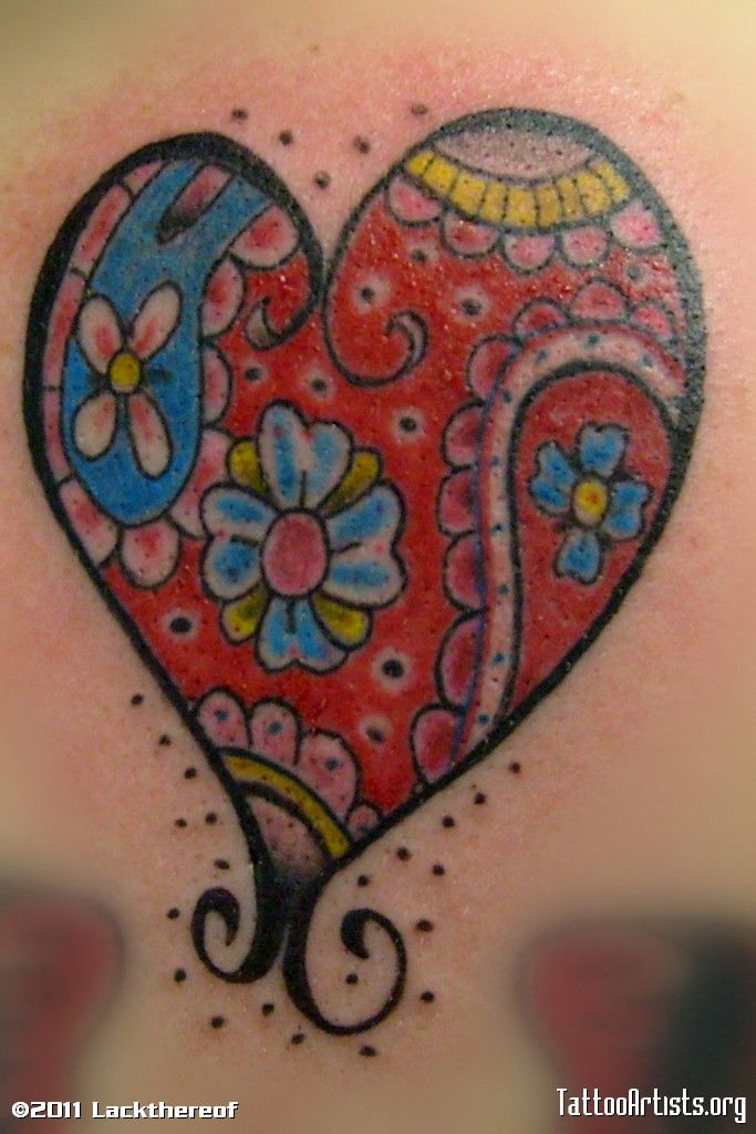 paisley heart!!!! add a Sagittarius symbol in there and we have ourselves a winner!