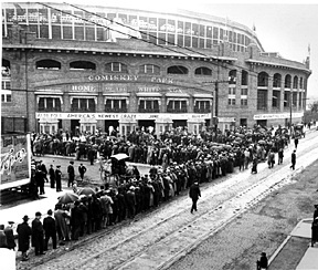NEW BASEBALL PARK 1910: Comiskey Park -  Home of the White Sox opens