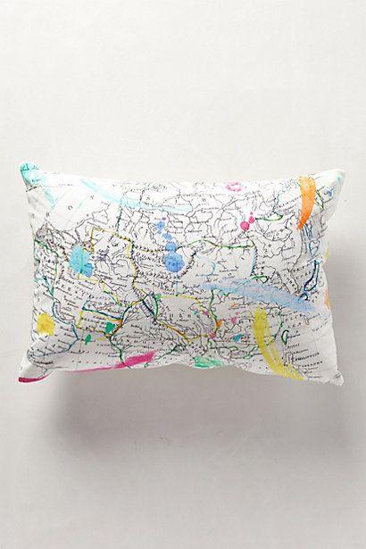 Throw Pillows Luxury : Cartography Pillow #anthropologie Mediterannean Pinterest Pastel, Throw pillows and ...