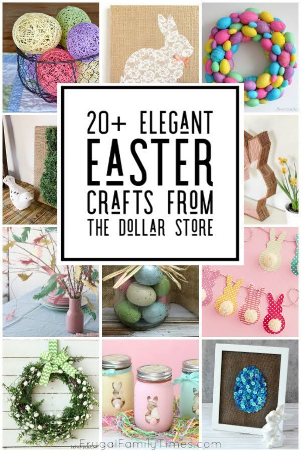 20 Elegant Easter Decor Crafts From The Dollar Store Easter Decorations Dollar Store Easter Crafts Dollar Store Diy Easter Decorations
