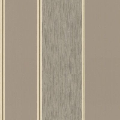 """Walls Republic Traditional 32.97' x 20.8"""" Simplistic Thick Striped Wallpaper Color: Tan / Taupe"""