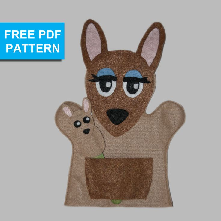 17 best images about free hand puppet patterns on for Kangaroo puppet template