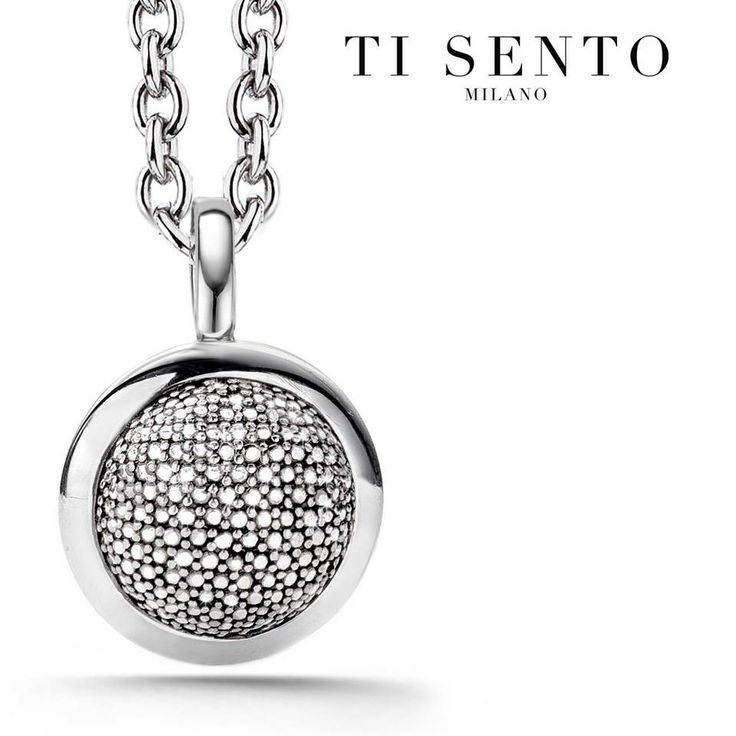 Silver pave necklace from Ti Sento #LoveTiSento