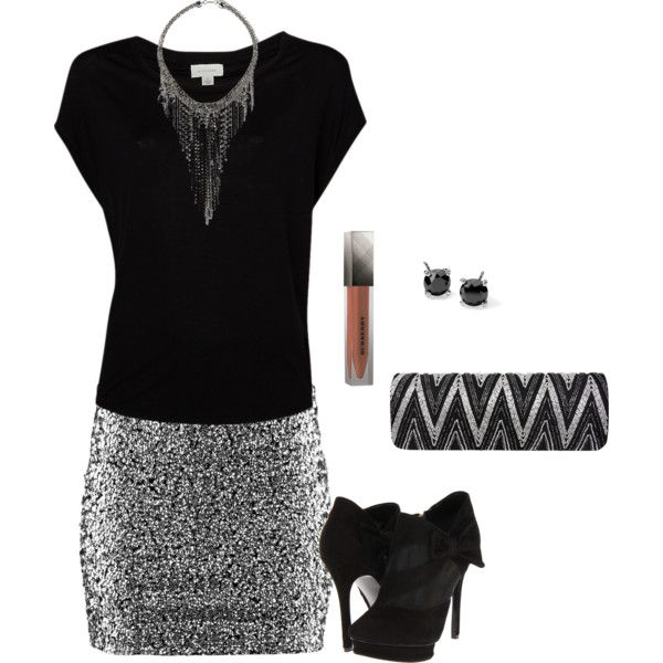 A fashion look from December 2012 featuring H&M mini skirts, Nine West shoes and Nina clutches. Browse and shop related looks.