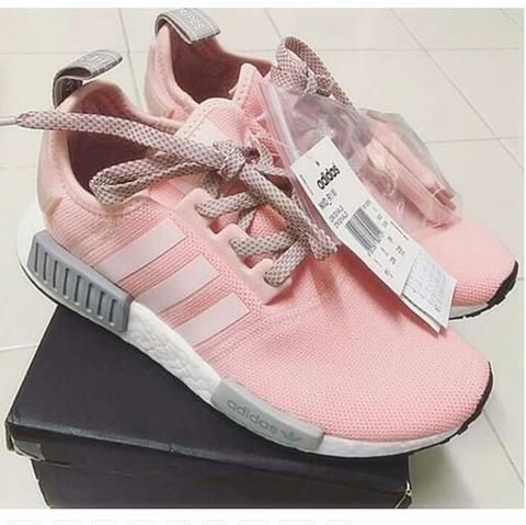 298673640 ADIDAS Women Running Sport Casual Shoes NMD Sneakers Grey