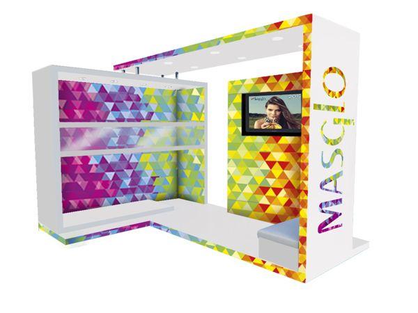 Stand MASGLO - Ferias y/o Eventos by Lina Moncada Abadia, via Behance