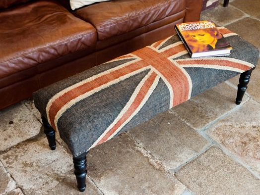 Union Jack Footstool - £212.00 - Hicks and Hicks