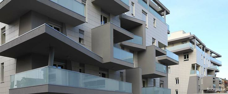 The two new residencial buildings in via Cesalpino, Modena, have been covered exteriorly with Floor Gres material through the technique of t...