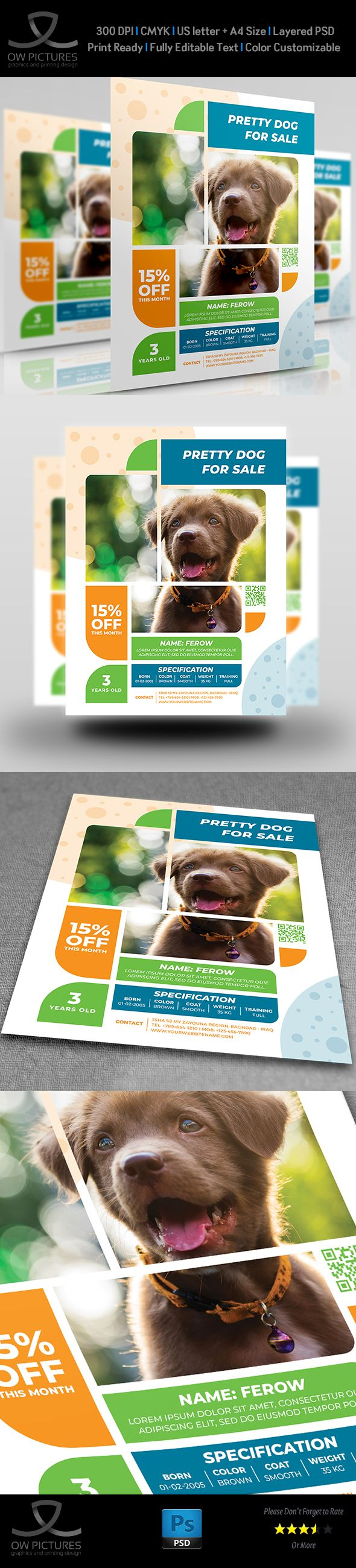 Pets For Sale Flyer Template Pets For Sale Sale Flyer Flyer Template Puppies for sale flyer template