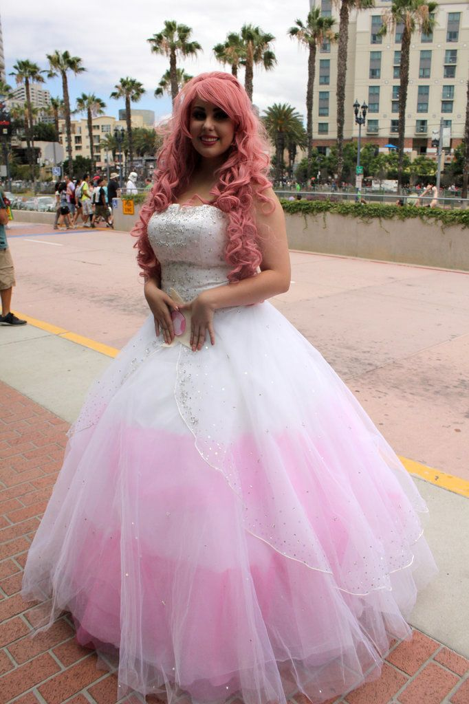 This poofy gown was part of a Rose Quartz cosplay costume.