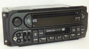 Chrysler Dodge Jeep OEM Radio - AM FM Cassette CD with iPod Aux Input - Fits Many 2002 2003 2004 2005 2006 - P05091506AG by Daimler Chrysler. $135.00. Fits the following vehicles:     2001 - 2005 Chrysler PT Cruiser; 2002 - 2007 Jeep Liberty; 2002 - 2004 Jeep Grand Cherokee; 2002 - 2006 Dodge Stratus; 2002 - 2006 Dodge Ram 1500 / 2500 / 3500; 2002 - 2005 Dodge Neon; 2002 - 2004 Dodge Intrepid; 2002 - 2003 Dodge Durango; 2002 - 2004 Dodge Dakota; 2002 - 2007 Dodge Ca...