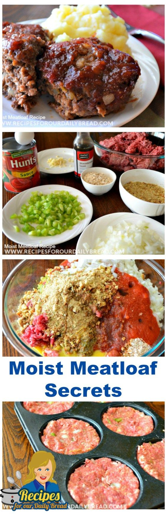 Moist #Meatloaf #Recipe Best #Sauce - This meatloaf is the best ever. Extremely moist and flavorful.