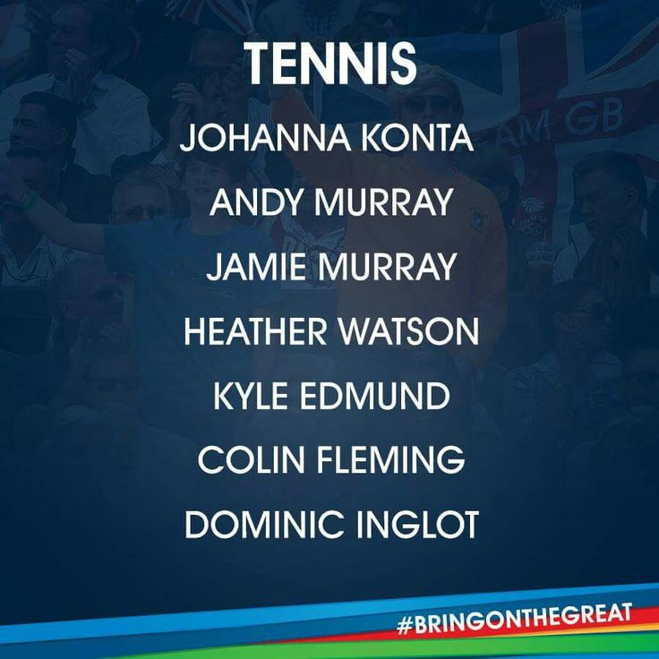 Tennis- Team GB Rio 2016