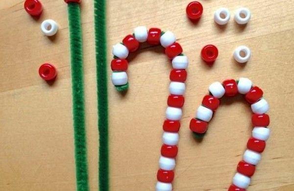 bastelideen weihnachten zuckerstangen