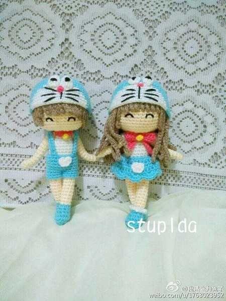 Doraemon сестра поделки ручной работы шерсти вязание крючком куклы графических электронных книг китайских учебников незавершенной доставки