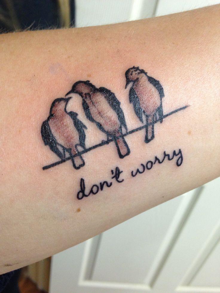 Three little birds tattoo | Bob Marley tattoo
