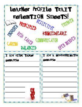 Learner Profile Trait Reflection Slips (IB: International