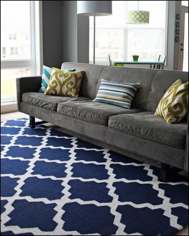 Grey Sofa Navy Rug Living Room Inspiration Living Room Redo