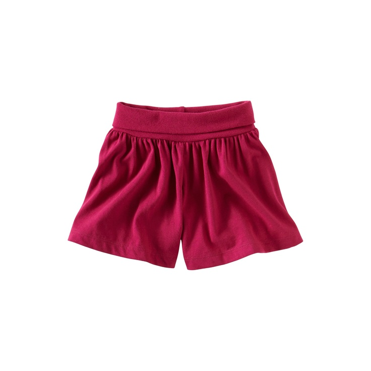 ...A perfect knit short. We added a foldover waistband to lend a Bali sarong feel.....going to try to make these for Mila this summer