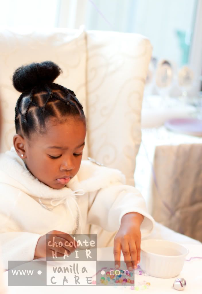 Lovely birthday style for a little girl Snow Princess - Black Girl Braid Hairstyles