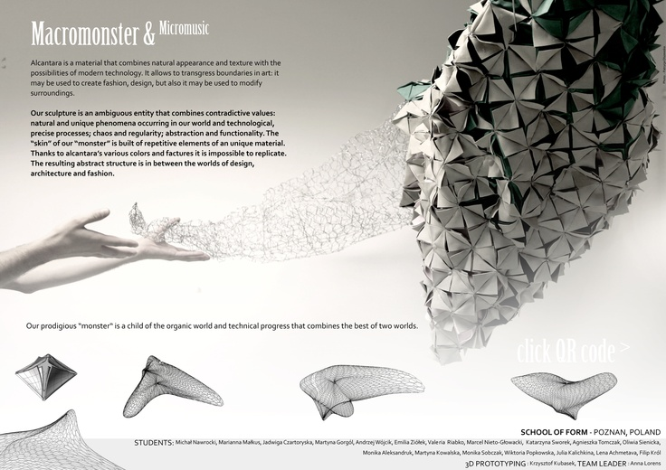 """Our """"monster"""" for Macromonster & Micromusic installation by Felice Limosani featuring School of Form #schoolofform"""