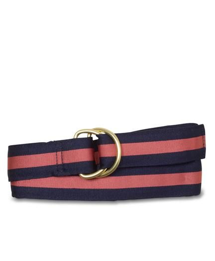 """A casual must-have. This belt is exactly what her wardrobe needs. Striped grosgrain belt with metal loop closure. 1Â """" width. Imported."" More Details"