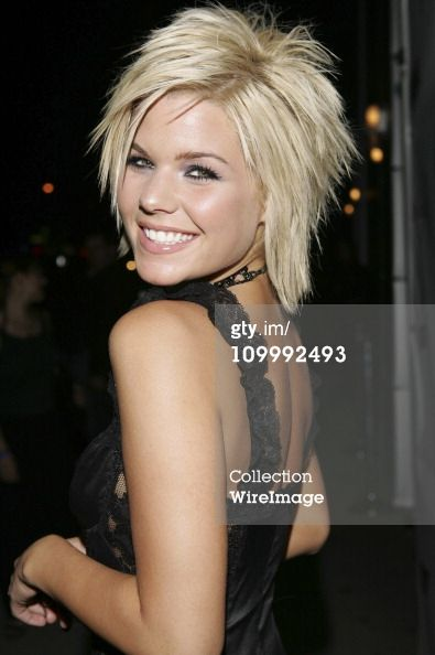 Kimberly Caldwell During Harlottique Opening July 22 2005 At In 2018 Hair Ideas Pinterest Styles And Cuts