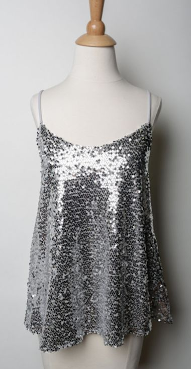 Sequin tank tops, Sequin tank and Silver sequin on Pinterest