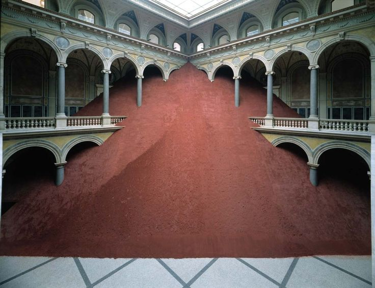 Domestication of Pyramids by Magdalena Jetelová are pyramid-sculptures installation, covered by volcanic ashes, and have been shown at the Museum of Applied Arts / Vienna, Martin-Gropius-Bau / Berlin, National Museum of Contemporary Art / Warsaw and other art spaces. A space on a scale which greatly exceeds the size of the host building is inserted…