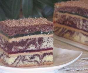 Ciasto z kremem i galaretką
