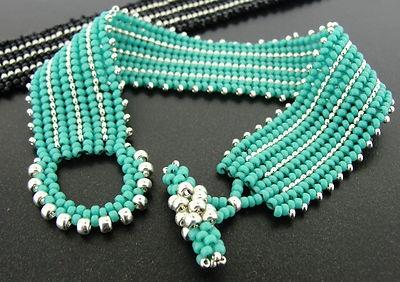 Beadweaving Kit Herringbone Interrupted Beautiful Bracelet Kit | eBay
