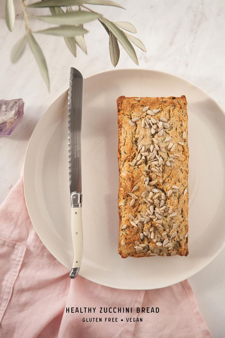 Delicious healthy zucchini bread – gluten free, vegan and made without refined sugars. Pure comfort food, best slathered with tahini, avocado