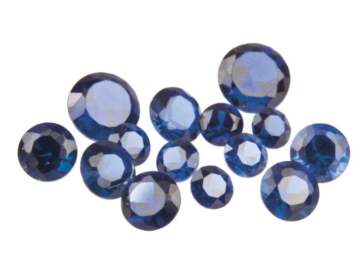 Synthetic Sapphire, Round, 3,4,5mm, Pack of 14