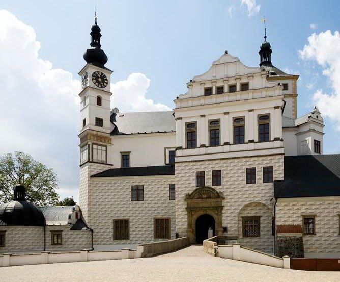 The castle in Pardubice, Czechia