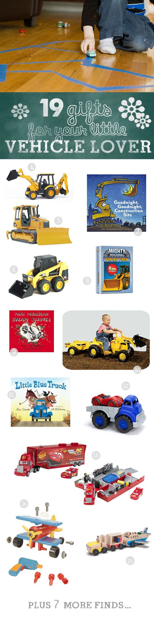 "The top toys of 2012 for little ones who love things that go ""vroom!"""